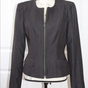 Gray Tahari Jacket